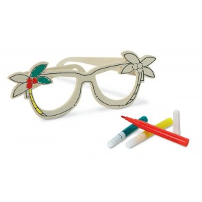 promotional colour me in wooden glasses  MOB-MO8247