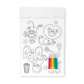 promotional colouring magnetic stickers MOB-MO9229