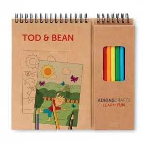 promotional colouring sets with notepads MOB-MO8769