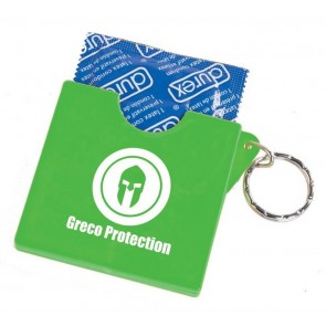 promotional condom holder keyrings SEU-HP8409