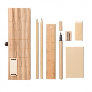 promotional cortina bamboo stationary sets MOB-MO9572