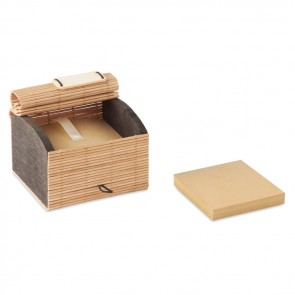 promotional cortina block bamboo memo blocks MOB-MO9571