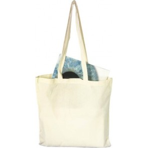 promotional cotton shopper with long handles IME-2342