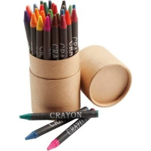 promotional crayon sets in tubes IME-2792