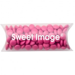 promotional cushion packs with chocolate lentils (small) IMC-C-0096