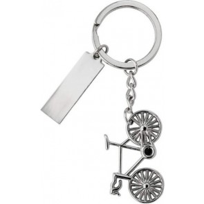 promotional cyclist nickel keyrings in gift box type 2 IME-6026