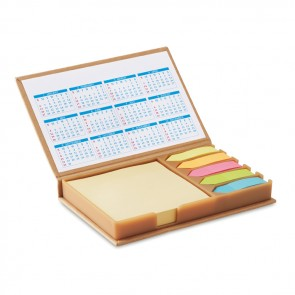 promotional desk set memo with calendars MOB-MO9394