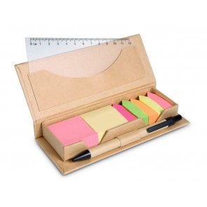 promotional desk sets in brown paper boxes  MOB-MO7756