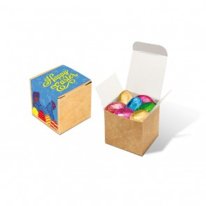 promotional eco kraft cube foiled chocolate eggs TSP-105616
