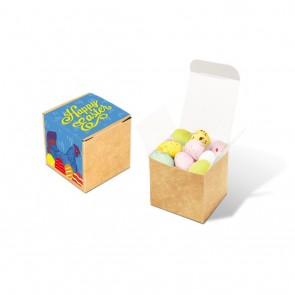 promotional eco kraft cube speckled eggs TSP-105612