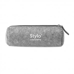 promotional felt zippered pencil case MOB-MO9819