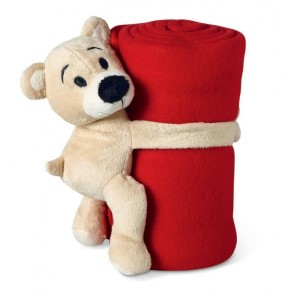 promotional fleece blankets with bears MOB-MO8252