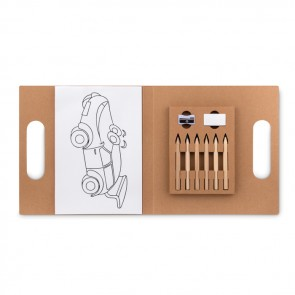 promotional folder2 go colouring set with 6 pencils MOB-MO9544