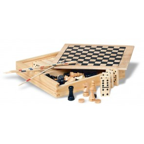 promotional four games in wooden boxes  MOB-KC2941