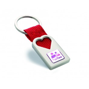 promotional heart shaped metal keyrings MOB-MO7155