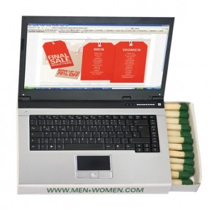 promotional hockey laptop matchboxes TGR-HOCKEY-LAPTOP