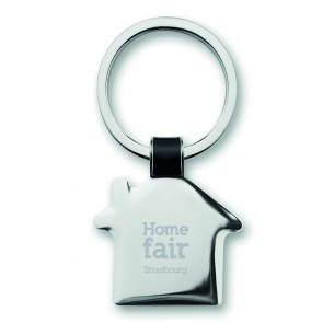 promotional house shaped keyrings MOB-MO8461
