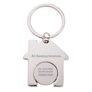 promotional house trolley coin keyrings SEU-KY4542