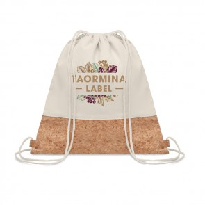 promotional illa drawstring bag with cork detail MOB-MO9515