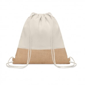 promotional india drawstring bag with jute detail MOB-MO9516
