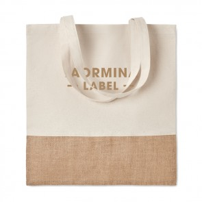 promotional india tote shopping bag with jute MOB-MO9518