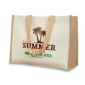 promotional jute and canvas shopping bags MOB-MO8967