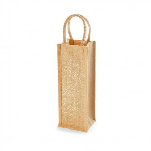 promotional jute bottle bags BAT-JUTSBB