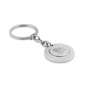 promotional keyring with token MOB-MO9289
