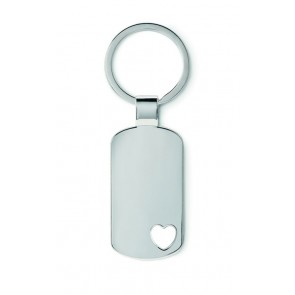 promotional keyrings with heart detail MOB-MO8694