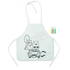 promotional kids aprons with 4 markers  MOB-MO8604