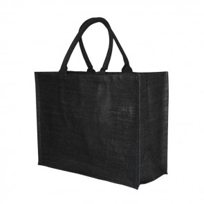promotional large black jute bags BAT-JUT4B