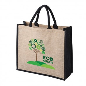 promotional large jute bags with gusset BAT-JUT4