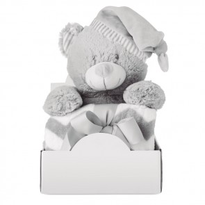 promotional large teddy bear with blanket MOB-MO9841
