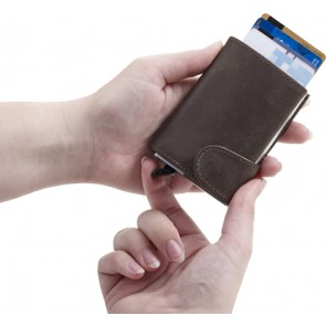 promotional leather wallet with rfid card holders IME-8193