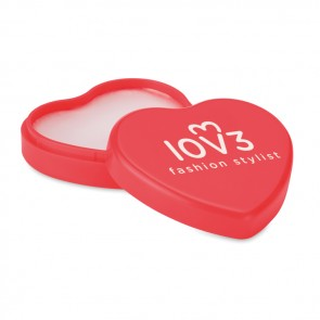 promotional lip balm in heart shaped case MOB-MO9807