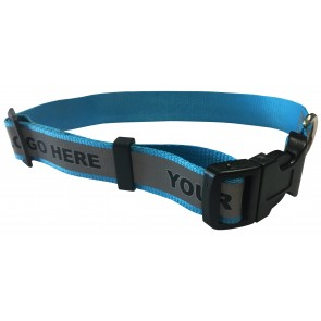 promotional medium dog collar with reflective strip PMT-UDC21