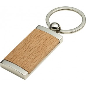 promotional metal and wooden key holder IME-8771