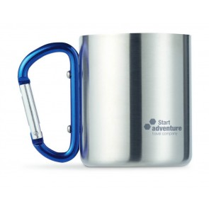 promotional metal mugs with carabiner handles MOB-MO8313