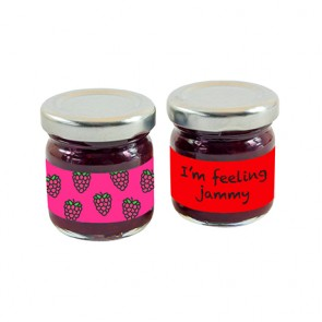 promotional mini jars of strawberry jam IMC-C-0330
