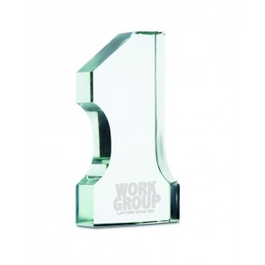 promotional number one glass trophies  MOB-MO7184