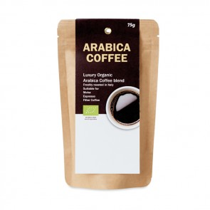 promotional organic arabica coffee 75g MOB-MO9725