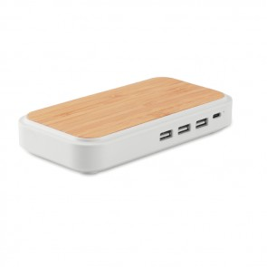 promotional oyama wireless charger in bamboos MOB-MO9390