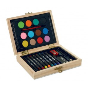 promotional painting sets in wooden boxes  MOB-MO8249
