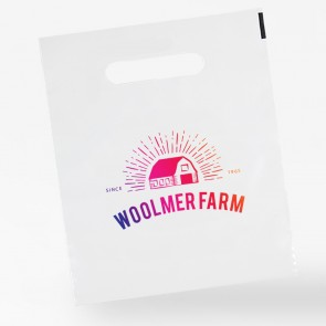 promotional patch handle polythene bags INT-PTHPLY