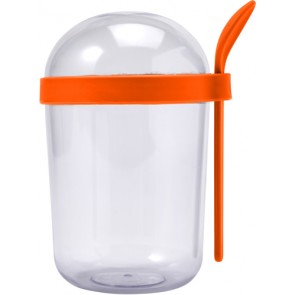 promotional plastic breakfast cup with spoons IME-7929