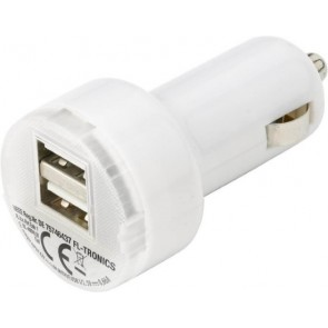 promotional 2 port plastic car chargers  IME-3280