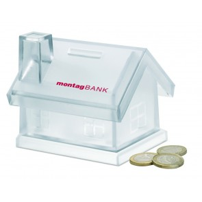promotional plastic house coin banks MOB-MO7242