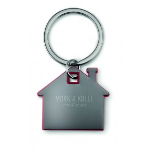 promotional plastic house keyrings MOB-MO8877