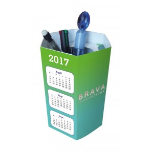 promotional pop up  hexagonal pen pots SEU-HP8826