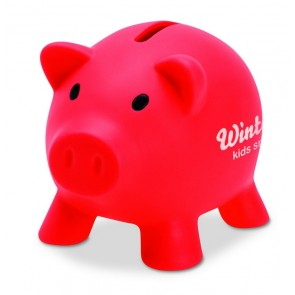 promotional poppy piggybanks MOB-MO8132